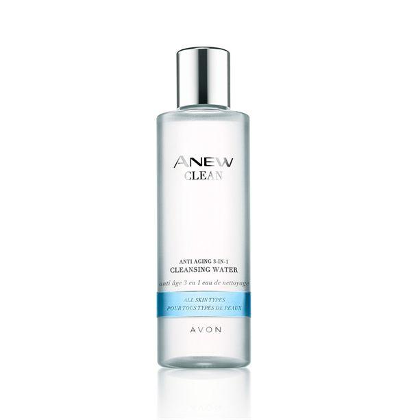 Avon Amew Clean Čistící pleťová voda s omlazujícím účinkem pro všechny typy pleti 200ml