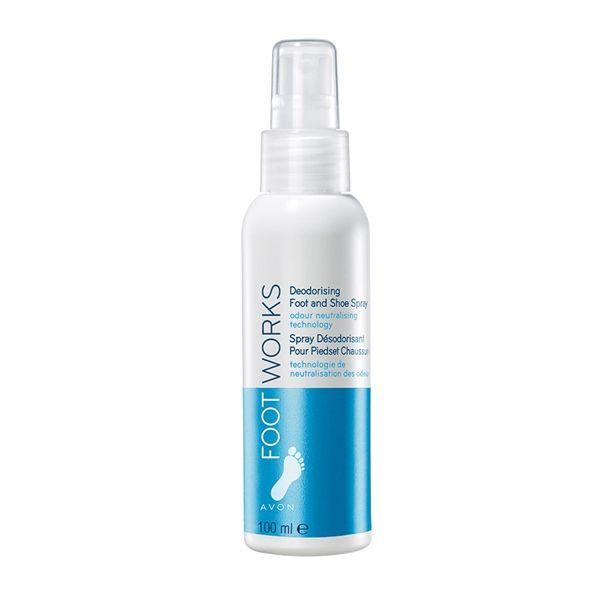 Osvěžující deodorant ve spreji na nohy 100ml s vitaminem E Foot Works Avon