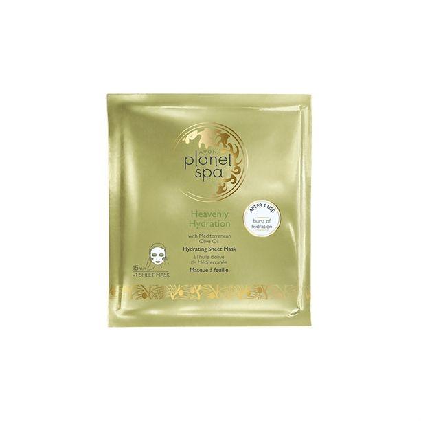 Hydratační textilní maska s olivovým olejem Planet Spa Avon