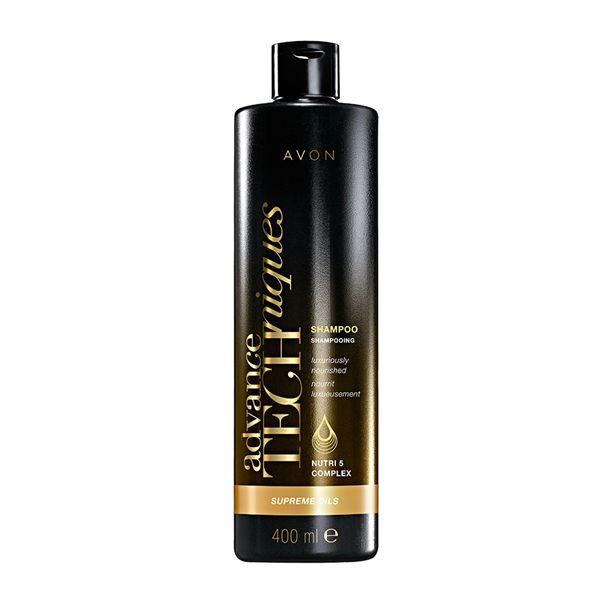 Advance Techniques intenzivní vyživující šampon s luxusními oleji 400ml pro všechny typy vlasů Avon