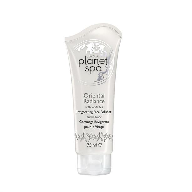 Avon Planet Spa čistící pleťový peeling s bílým čajem 75 ml
