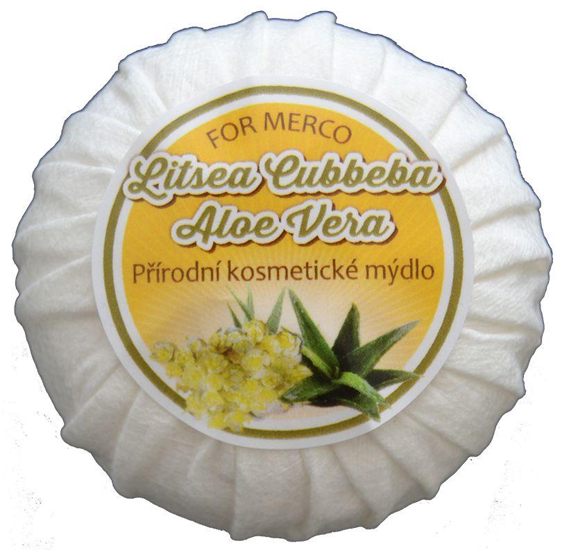 """Přírodní kosmetické mýdlo """"Litsea Cubbeba+Aloe Vera"""""""