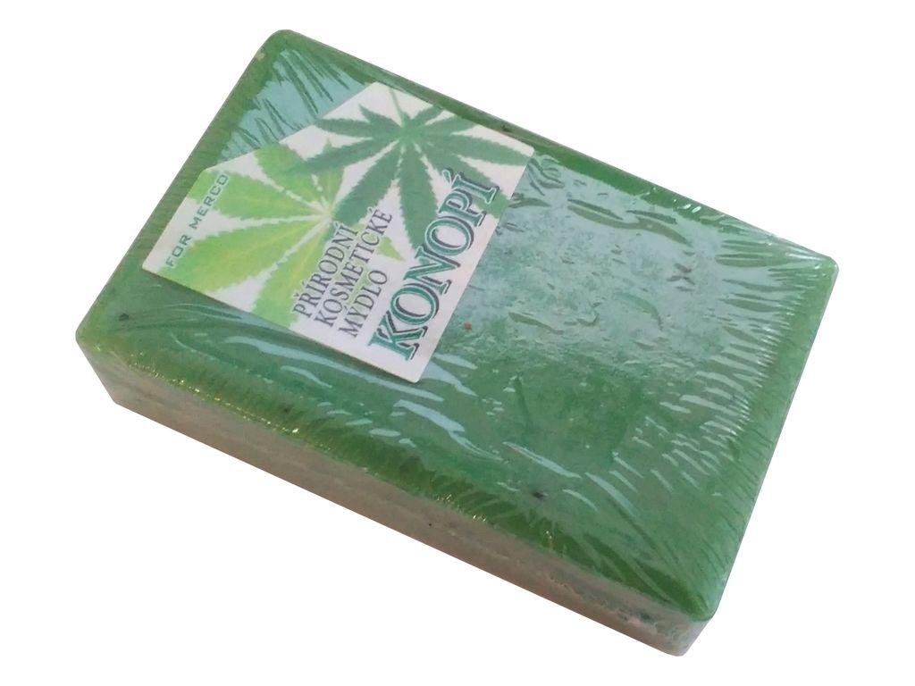 Přírodní rostlinné mýdlo KONOPÍ 85g peeling For Merco