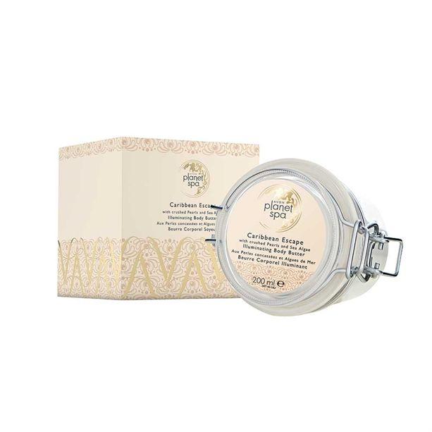Avon Planet Spa Rozjasňující tělový krém s výtažky z perel a mořských řas 200ml