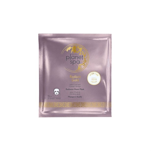 Rozjasňující textilní pleťová maska s olejem z agarového dřeva Planet Spa Avon