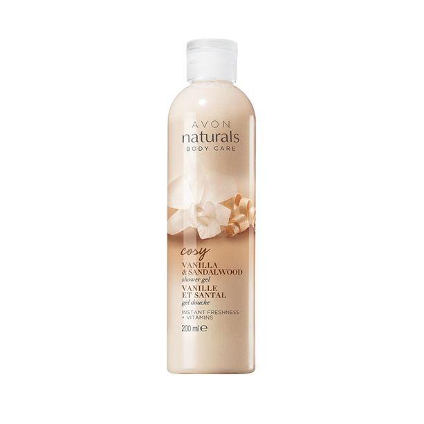 Sprchový gel Avon Naturals se santalovým dřevem a vanilkou 200m