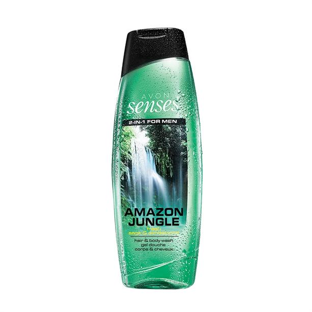 Sprchový gel pro muže na vlasy a tělo Amazon Jungle 500ml - posilující Avon