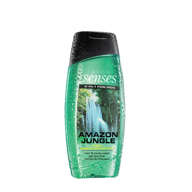 Senses Amazon Jungle sprchový gel -: 250 ml Avon