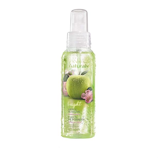 Tělový sprej s jabloňovým květem 100ml Avon Naturals s vůní zeleného jablka
