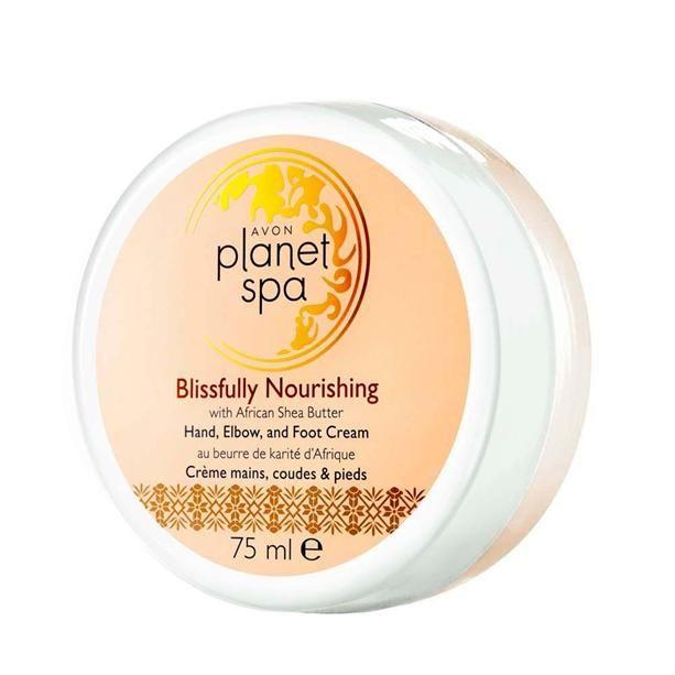 Planet Spa Vyživující krém na ruce,nohy a lokty s bambuckým máslem - : 75ml Avon