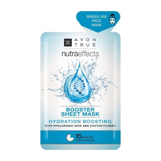Nutra Effects Pleťová maska hydratační textilní s kyselinou hyaluronovou Avon