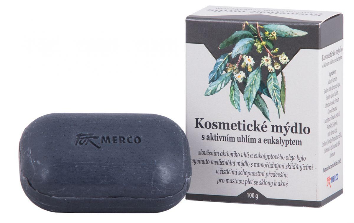 Kosmetické mýdlo s aktivním uhlím a eukalyptem 100g - pro mastnou pleť For Merco