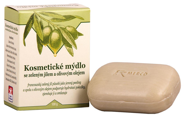 Kosmetické mýdlo se zeleným jílem a olivovým olejem 100g For Merco