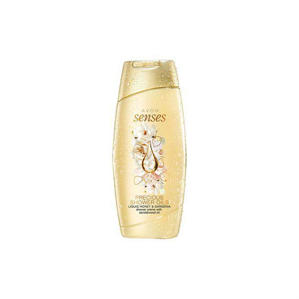 Avon Senses - Sprchový gel s medem a gardénií 250ml - Precious Shower Oils
