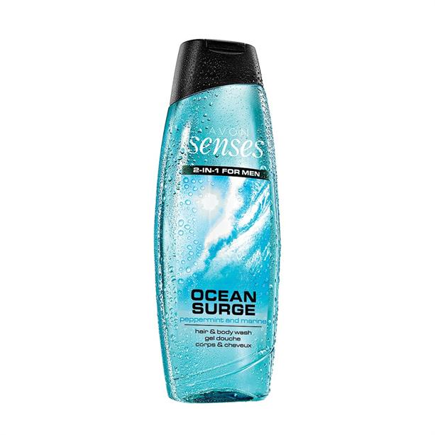 Sprchový gel na tělo a vlasy pro muže Senses Ocean Surge -: 500 ml Avon