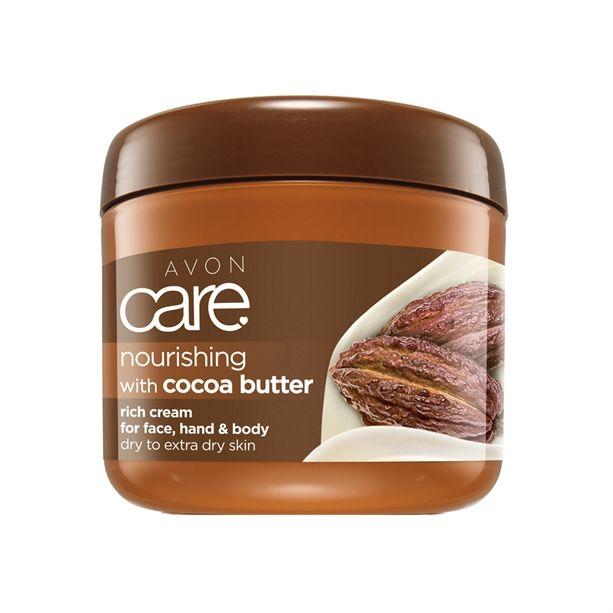 Pečující krém na obličej a tělo s kakaovým máslem 400ml a vitamínem E Avon
