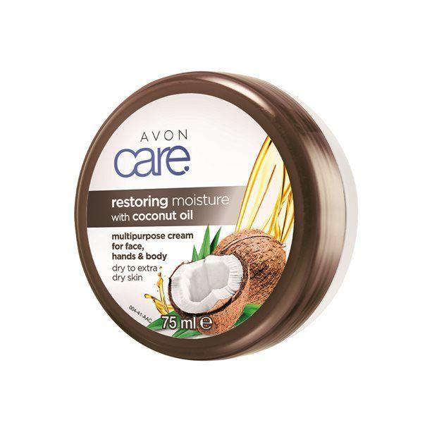 Care Regenerační hydratační krém na obličej, ruce a tělo s kokosovým olejem - : 75ml Avon