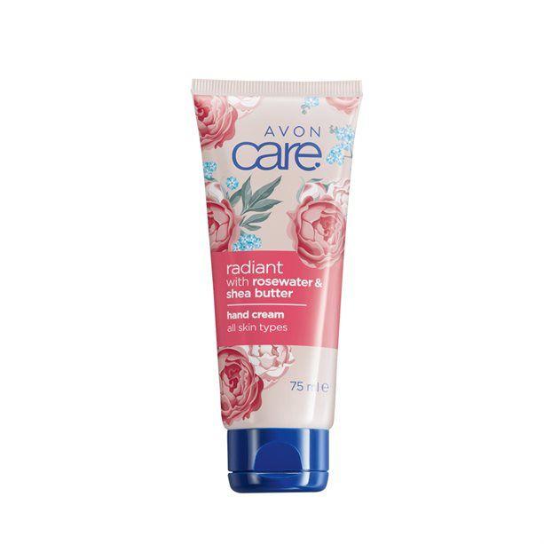 Care Rozjasňující krém na ruce s růžovou vodou a bambuckým máslem -: 75 ml Avon