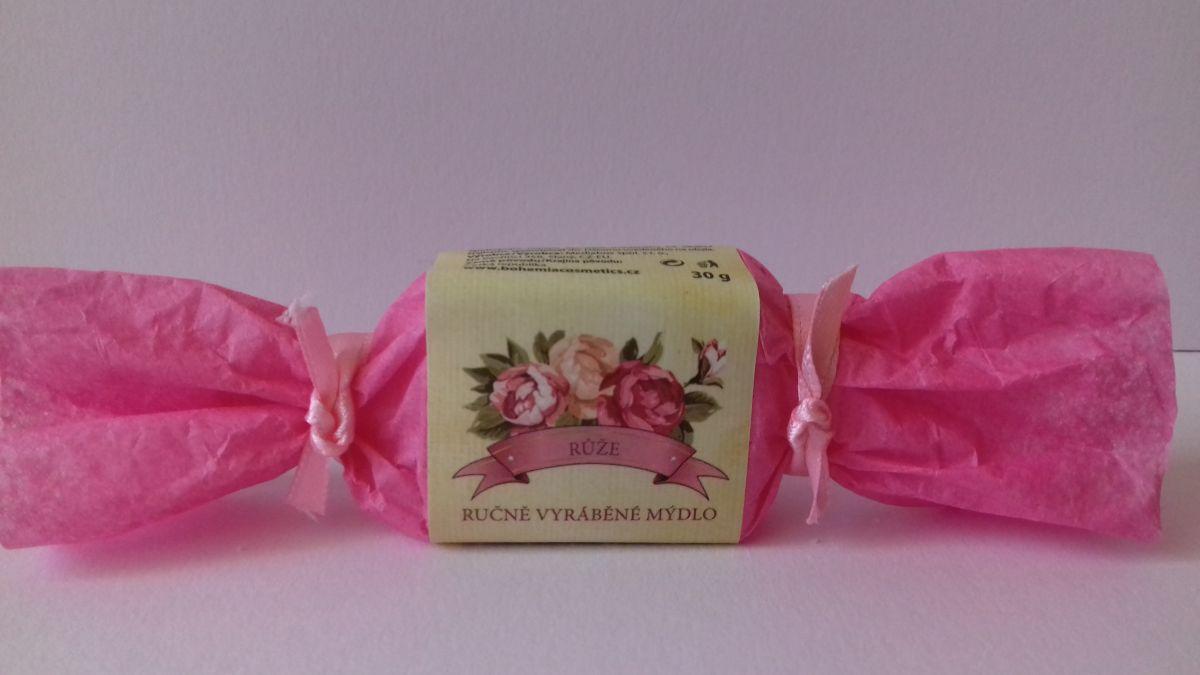 Ručně vyráběné mýdlo 30 g s extrakty růže Bohemia Gifts