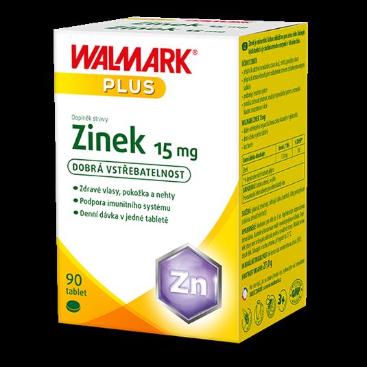 Zinek 15 mg 90 tablet Walmark
