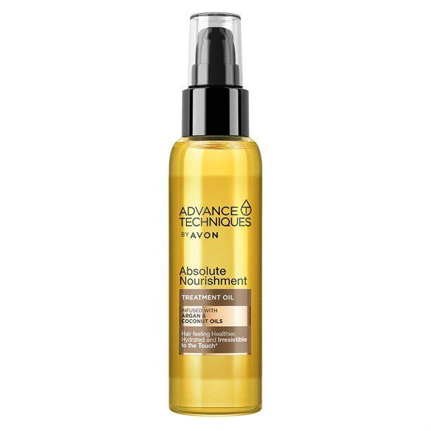 Advance Techniques Vyživující olej na vlasy s arganovým a kokosovým olejem -: 100ml Avon