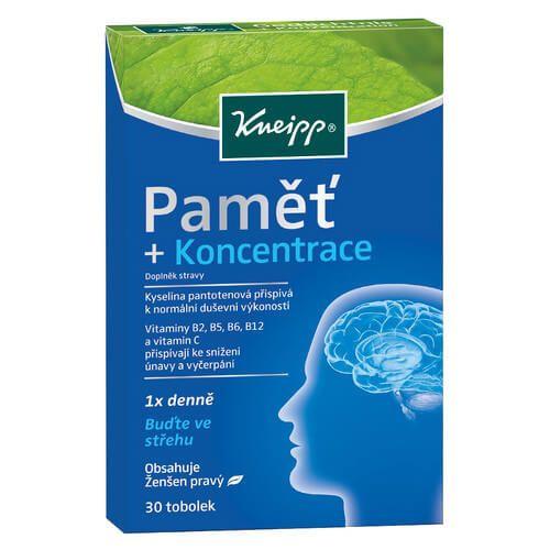 Kneipp Paměť + Koncentrace 30 tobolek