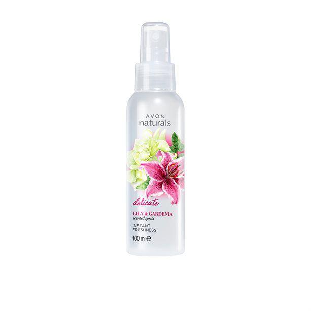 Naturals Tělový sprej s lilií a gardénií - : 100ml Avon