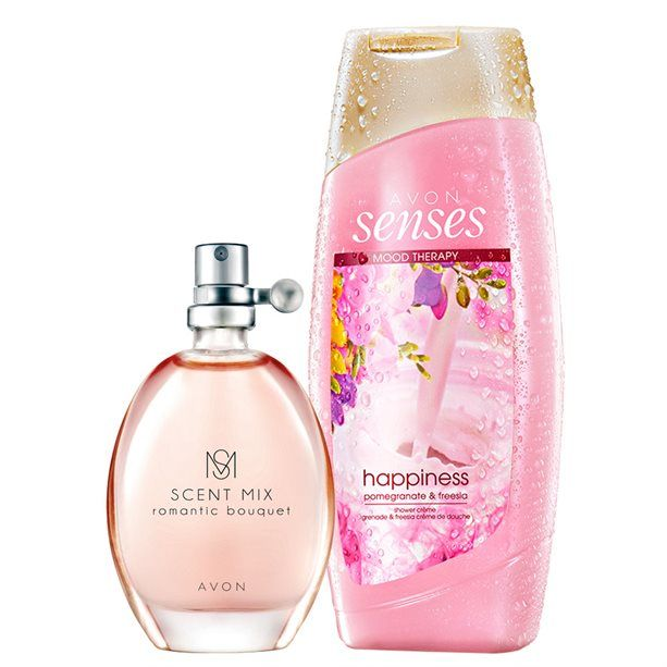 Romantická růžová sada / 2ks Avon