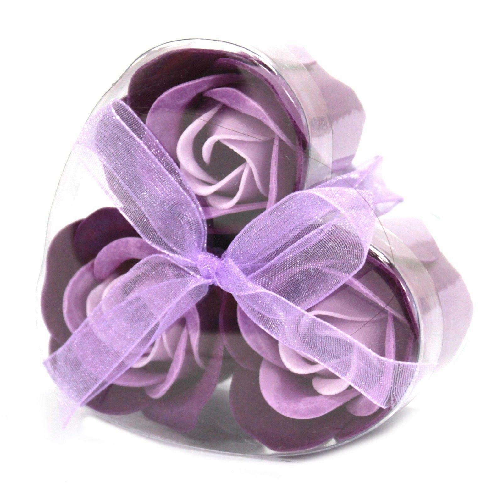 Sada 3 Mýdlových Květů - Levandulové Růže AWGifts