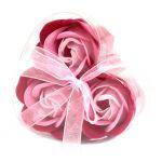 Sada 3 Mýdlových Květů - Růžové Růže