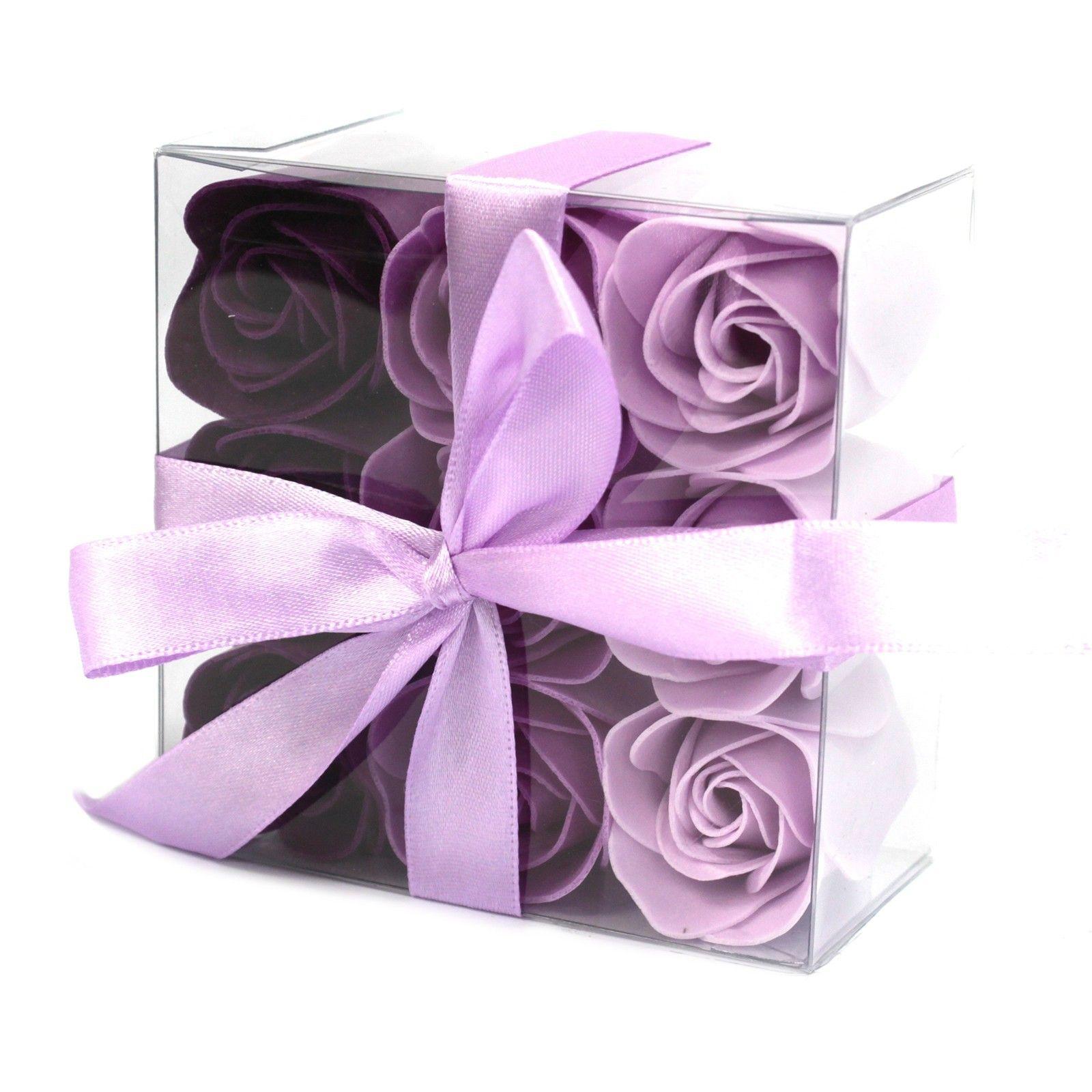 Sada 9 Mýdlových květů - Levandulové růže AWGifts