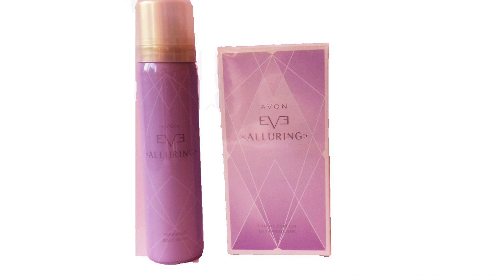 Tělový sprej Avon EVE ALLURING sada parfém/tělový sprej